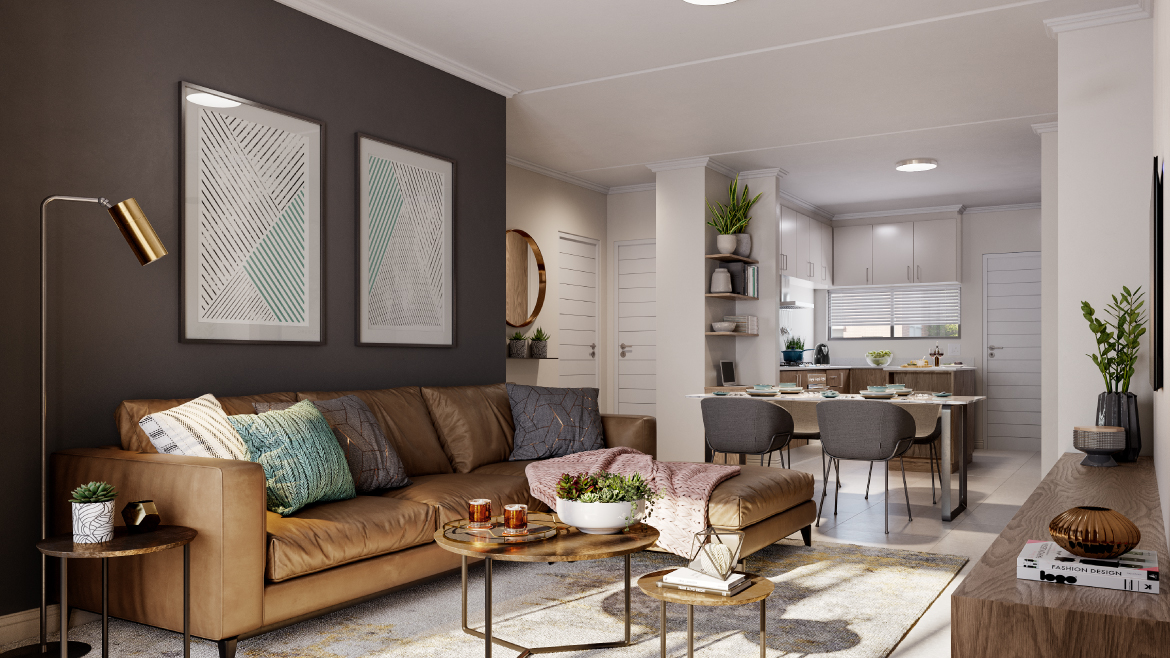 The Woods Apartments Unit type G Living Room