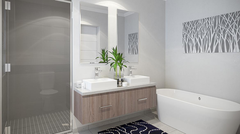 Unit Type D Main Bathroom